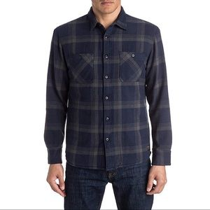 Quiksilver Metal Layer Button Down Flannel - Navy